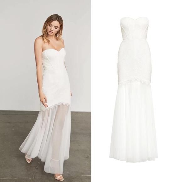 NWT BCBG maxazria alyce tulle wedding prom gown dress 4 10